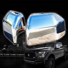 For 2018 Ford F-150 Chrome Top Half Mirror Cover