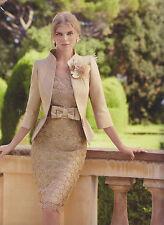 Carla Ruiz Dress Suit - Camel - Size 10 - Box62 22 D