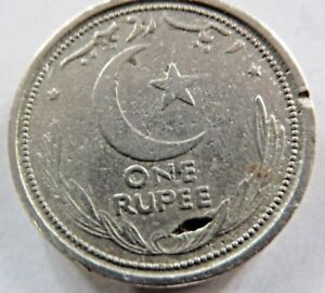 1948 1 RUPEE GOVERNMENT OF PAKISTAN LAHORE MINT NICKLE COIN
