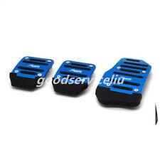 3Pcs Non Slip Car Manual Transmission Blue Pedal Cover Brake Clutch Accelerator