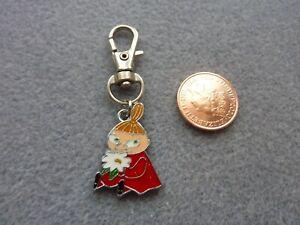 Moomin Little My Keyring Flower Keychain Enamel Bag Charm Birthday Gift