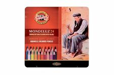 Pack of 24 Koh-I-Noor Mondeluz Hexagonal Water Coloured Pencils
