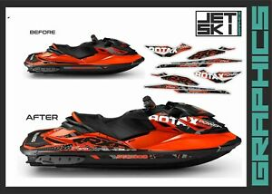 SEADOO RXP RXPX 300 graphics kit decals set for 2016-2017 Lava Red wrap