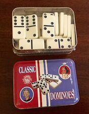 NIB UNUSED DOMINOES CLASSIC GAME, TIN BOX,CHANNEL CRAFT USA, See Photos