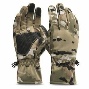 Professional Fishing Gloves Waterproof Winter Mens Ice Cold Weather Camo Hiking