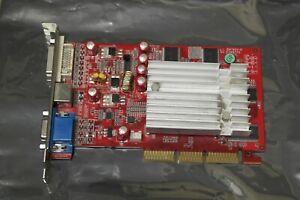 256MB Nvidia GeForce FX5500 GFX 5500 VGA DVI TV AGP Graphics Video Card GPU