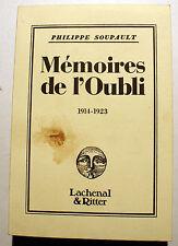 SOUPAULT/MEMOIRES DE L'OUBLI/1914-1923/ EDLACHENAL/1981/DESSINS AUTOMATIQUES