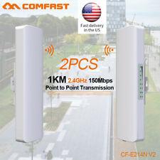 2pcs 150M Outdoor Wireless Access Point WiFi Bridge AP Network High Power CPE