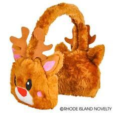 Christmas Brown Reindeer Rudolf Ear Muffs Stocking Stuffers new