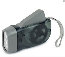 NEW! Crank LED Flashlight Handheld and Durable!