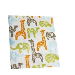 "Camel ,Giraffe, Elephant - Hindu Style Printed Baby Fitted Crib Sheet 52"" x 28"""