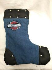 Harley Davidson Christmas Stocking - Blue/Black Studded