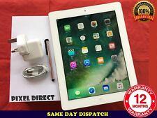 Apple iPad 4th Gen. 32GB, Wi-Fi+Cellular 4G (Unlocked) -White iOS 10 - Ref 89