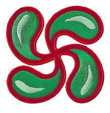 Ecusson patche Croix Pays BASQUE Euskadi patch brodé thermocollant