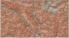 MONTE DI SOBRIO LEVENTINA BLENIO TICINO. San Bernardino Olivone Faido 1922 map