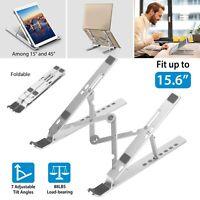 Adjustable Laptop Stand Portable Computer Tray Holder Riser Desk Table Bed Sofa