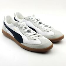 Puma Super Liga OG Retro Mens Sz 13 White Leather Suede Sneakers 356999