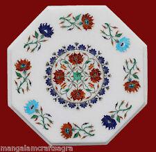 "18"" Marble Coffee Table Handmade Pietra dura Art Work Home Decor Gifts"