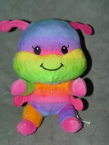 "Build a Bear 7"" Plush Soft Body Smallfrys Smallfry Caterpillar Rainbow"