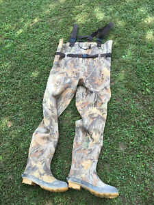 Chest Waders RedHead Bone Dry Camo Mens size 12 Waterproof Fishing Rubber Boots