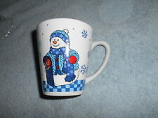( At2 ) Stoneware Coffee Cup With Snowman By Test Rite Int. Co.