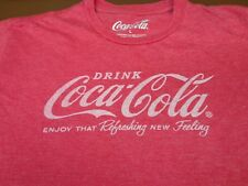Drink Coca Cola T-Shirt  LARGE Tee Enjoy That Refreshing New Feeling   H7