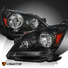 For 2005-2007 Honda Odyssey Black Headlights Head Lamps Left+Right