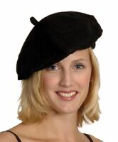 Adults French Black Beret Hat Fancy Dress Accessory France