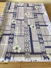 "Vintage Polyester Fabric Purple, Lavendar, White 62"" X 45"""