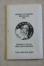 1972 Panama Republic of, One Balboa Proof Silver