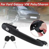 Front Right Drive Side Door Handle Lock & 2 Keys For Ford Galaxy VW Polo/Sharan
