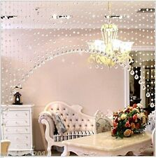 Discount4product 30 string crystal bead door window curtain for home decoration
