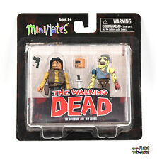 Walking Dead Minimates TRU Toys R Us Wave 4 The Governor & Jaw Zombie