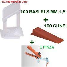 KIT 100 BASi RLS MM.1,5+100 CUNEI+1 PINZA PAV. RAIMONDI DISTANZIATORI LIVELLANTI