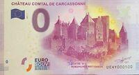 BILLET 0  EURO  CHATEAU COMTAL DE CARCASSONNE  FRANCE 2017 NUMERO 100