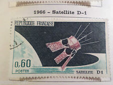 FRANCE 1966, timbre 1476, LANCEMENT SATELLITE D1, oblitéré, VF used stamp