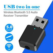 Black Wireless USB Bluetooth ABS V5.0 Dongle Adapters Music Receivers for Car PC