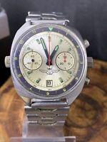 Vintage POLJOT 3133 Chronograph Telemeter Date Military Men GIFT Watch #0343
