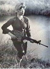Vietnam War North Vietnamese Female Soldier Old Photo 8.5x11 Rare Photo