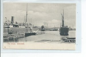 Printed postcard of the Docks at Boston Lincolnshire good condition