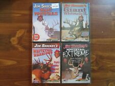 NEW JIM SHOCKEY WHITETAIL HUNTING DVD LOT; DEER. GIANT, WARRIORS, EXTREME.Sports