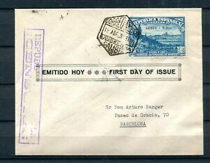 1938.ESPAÑA-SOBRE PRIMER DIA CIRCULACION.EDIFIL 759.CENSURADA.MUY RARA CARTA