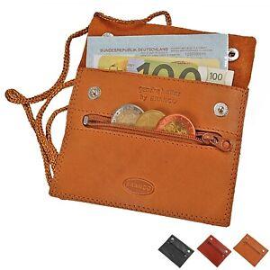 Branco kleiner flacher Brustbeutel Leder Brusttasche Security Wallet Brustsave