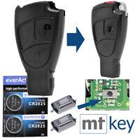 Schlüssel Smartkey Gehäuse für Mercedes Benz W203 W204 C-Klasse + 2x Batterie