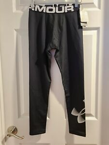 NWT Under Armour Boys' ColdGear® Armour Leggings Youth Size Large Black Athletic
