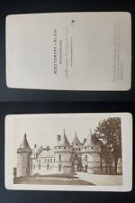 Mieusement, France, château de Chaumont-sur-Loire Vintage albumen print CDV.
