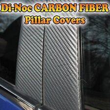 CARBON FIBER Di-Noc Pillar Posts for Fiat 500 10-15 6pc Set Door Trim Cover Kit