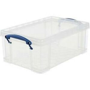 Really Useful Storage Box 9 Litre Clear Transparent