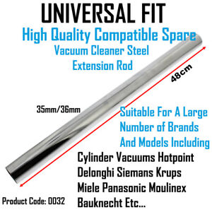 Filter Queen Universal 35mm Chrome Vacuum Cleaner Extension Rod Tube