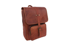 Vintage Leather Backpack 13 In Laptop Bag Women Handbag Rucksack Shoulder Bags
